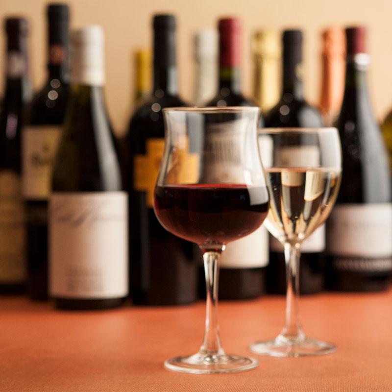 様々な種類のワイン